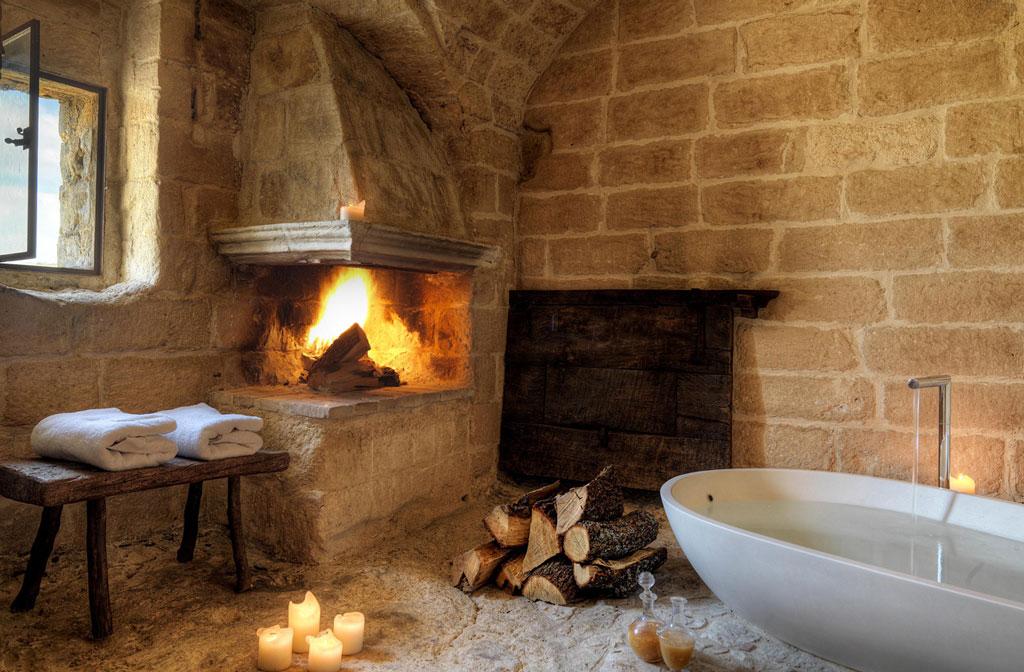 cave bath fire
